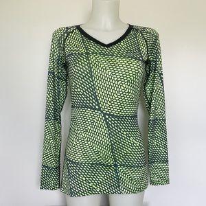 NIKE Pro lime green/black long sleeve Size S